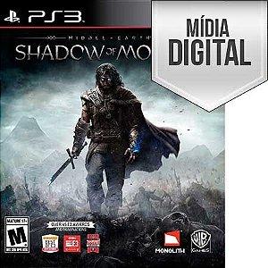 Terra Média: Sombras de Mordor - PS3 Mídia Digital