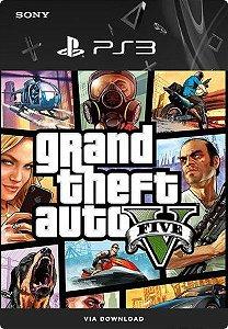 Grand Theft Auto V (GTA 5) - PS3 Mídia Digital