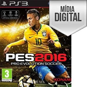 Jogo Pro Evolution Soccer 2016 (PES 16) - PS3 Mídia Digital