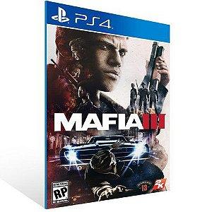 MAFIA III PS4 - MÍDIA DIGITAL CÓDIGO 12 DÍGITOS