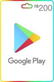 Cartão Google Play 200 reais Gift Card recarga Google Play