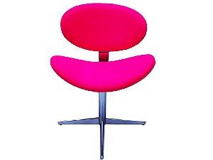 """Cadeira Modelo LV30BC """"Compacta"""" com base em alumínio  regulagem de altura. Lv Estofados."""