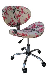 """Cadeira Giratória Modelo LV30G """"Compacta"""" com base Estrela cromada e rodizios de silicone. LV ESTOFADOS"""