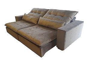 Sofá retrátil e reclinável ( produzido sob medida) , com pillow top de 18 cm, super confortável (espuma soft) , com abertural total de 1,8 metros , braços personalizaveis. Modelo Lv12RRBP . Lv Estofados