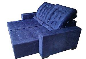Sofá com assentos retráteis e encosto reclinável (4 posiçoes) com almofadas de brinde. Produzimos sob medida. Consulte orçamento sem compromisso. Lv Estofados.
