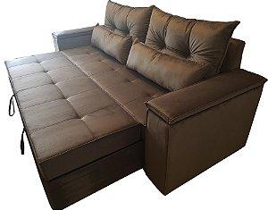 Sofa Cama (Bi cama) alto padrão com mecanismo diferenciado e compacto, com braços bau . MOdelo LV127BBAU