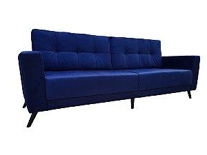 Sofá de Living com pés palitos inclinados e almofadas móveis. Produzimos sob medida. Modelo LV110.