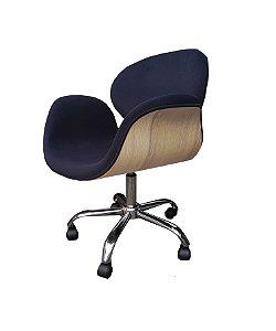 Cadeira tulipa com fórmica cor marfim, base estrela ou base 4 pontas em aluminio. Modelo LV90FORMAFIM. Lv Estofados