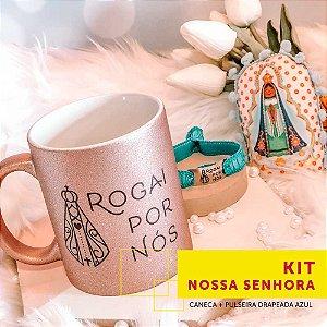 Kit NOSSA SENHORA | caneca + pulseira drapeada