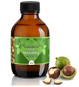 Óleo de Macadâmia - antioxidante e hidratante.
