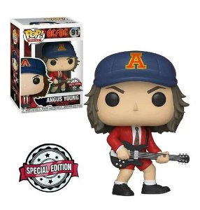 Funko Pop!  Angus Young - AC/DC #91 Edição Especial Exclusivo