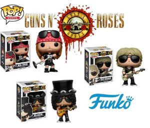 Pack Funko POP Guns N Roses Axl 50 Slash 51 e Duff 52