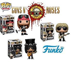 Pack Funko POP Guns N Roses Axl 50 Slash 51 e Duff 52