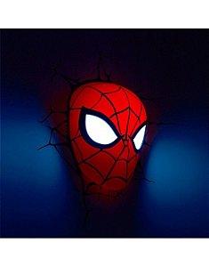 Luminária- Máscara- Homem Aranha- Spider-man