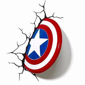 Luminária- Escudo Capitão América