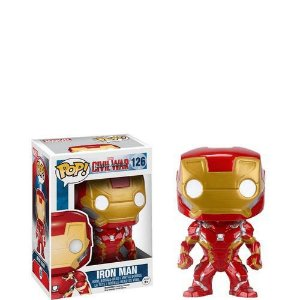 Funko Pop! Marvel: Guerra Civil- Homem de Ferro - Iron Man #126