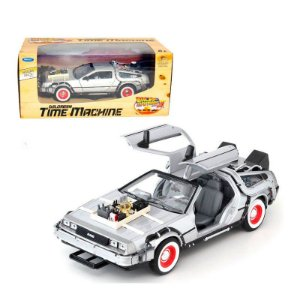 Miniatura De Volta Para o Futuro III Carro Delorean Time Machine escala 1:24 Welly