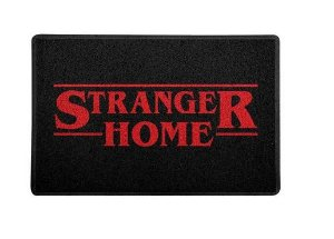 Capacho 60x40cm Stranger Home Preto- Stranger Things