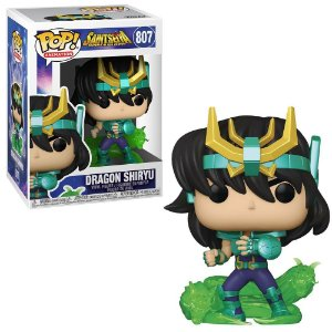 Funko Pop! Shiryu de Dragão (Dragon Shiryu): Os Cavaleiros do Zodíaco (Saint Seiya) #807