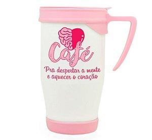Caneca térmica Café pra aquecer o coração