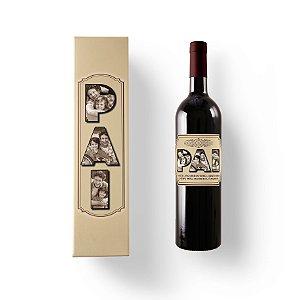 Vinho personalizado com caixa