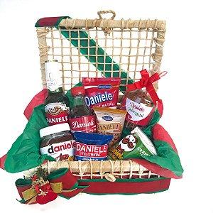 Baú de Natal com guloseimas personalizadas