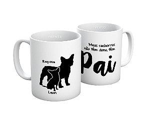 Caneca Pai de Cachorro personalizada