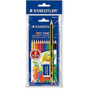 Lápis de Cor Staedtler Noris Club 12 Cores + borracha + lápis  HB2