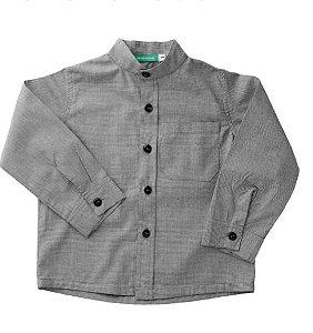 Camisa Mini Xadrez Cinza