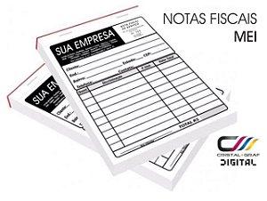 TALÃO NF MEI - PAPEL COPIATIVO - 3 VIAS - 1 BLOCO - C/ ARTE INCLUSO