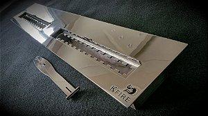 Queimador Inox 80cm DUPLO COM REGULAGEM DE CHAMA