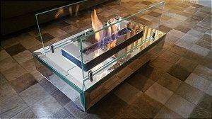 Lareira ecológica Box Mirror - Totamente em espelhos lapidados e facetados