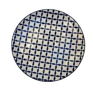 Prato Porcelana Decor Geométrico