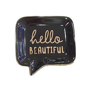 """Mini Prato em Cerâmica """"Hello Beautiful"""""""