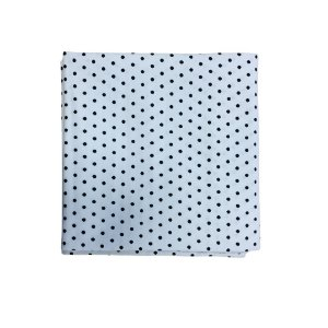 Guardanapo Tricoline - Branco c/ Poás Pretos Pequenos - Quadrado - 0,40 x 0,40 cm