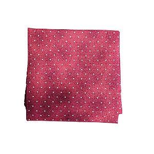 Guardanapo Tricoline - Vermelho queimado c/ Mini Poás Dourados - Quadrado - 0,40 x 0,40 cm