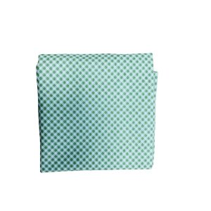 Guardanapo Tricoline - Verde Xadez Branco - Quadrado - 0,40 x 0,40 cm