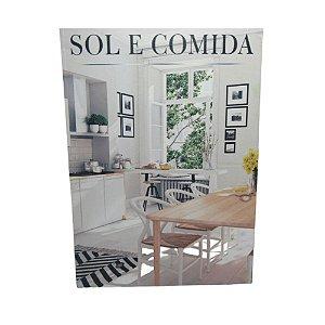 Livro Porta Objetos de Madeira Sol e Comida Tamanho P