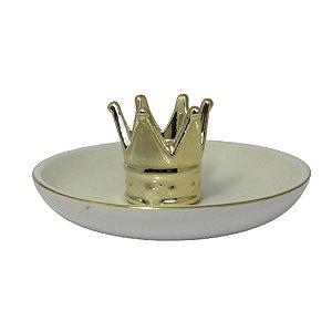 Prato Porta Anéis Coroa de Rainha
