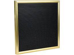 Quadro Letter Board Moldura Dourada fundo Preto