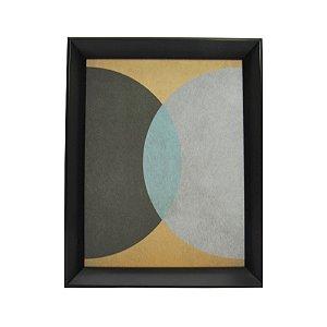Quadro Decorativo Moldura Preta Desenho Abstrato