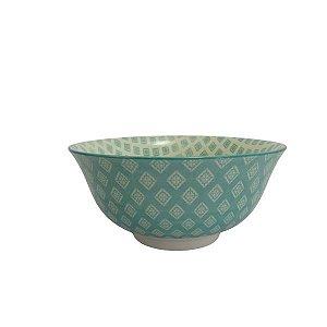 Bowl em Cerâmica Desenhos Turquesa M