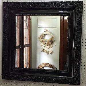 Espelho Moldura Preto 73x73