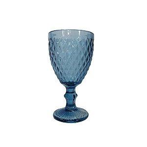 Jogo de Copos de Água com Pé  c/ 6 - Bico de Abacaxi - Azul