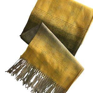 Pashmina Amarela c/ Verde (0,67 x 1,96)