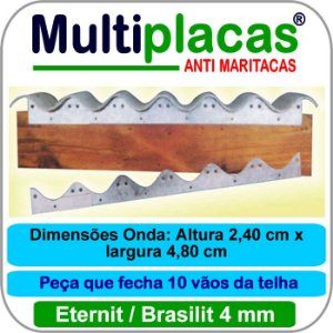 Placa Anti Maritacas Regua Amianto 4 mm 1 metro