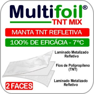 Multifoil TNT Mix - Manta termica de subcobertura 2 faces (100m²) - Fita grátis