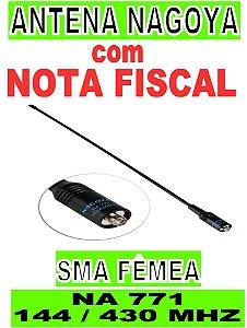 Antena Nagoya Na771 Sma Fêmea Flexível Dual Band 144/430 Mhz