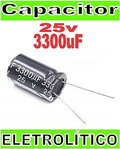 10 Capacitor Eletrolitico 25v 3300uf Fonte Arduino