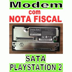 Network Adapter Modem Ps2 Playstation2 Fat Modelo Sata Preto